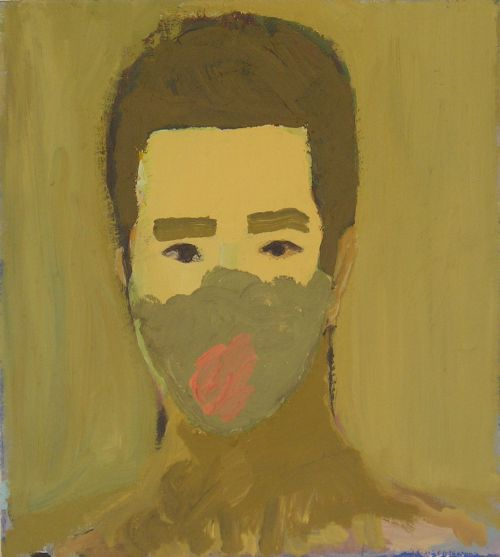 Self-portrait, 2005, 39 x 43 cm