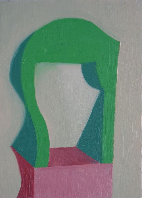 Self-portrait, 2006, 13 x 17 cm