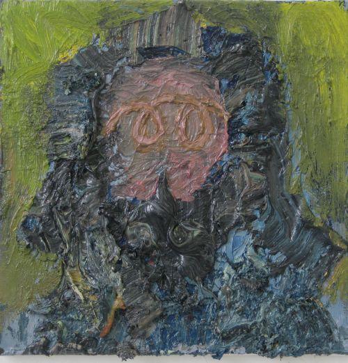 Self-portrait, 2010, 40 x 40 cm
