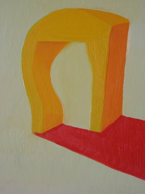 Sellf-portrait, 2006, 14 x 20 cm