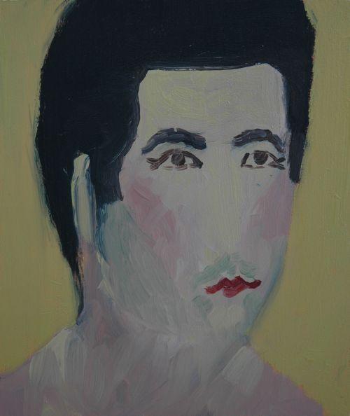 Self-portrait, 2006, 15 x 17, 5 cm