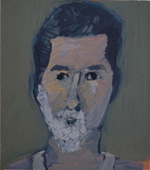 Self-portrait, 2007, 15 x 20 cm