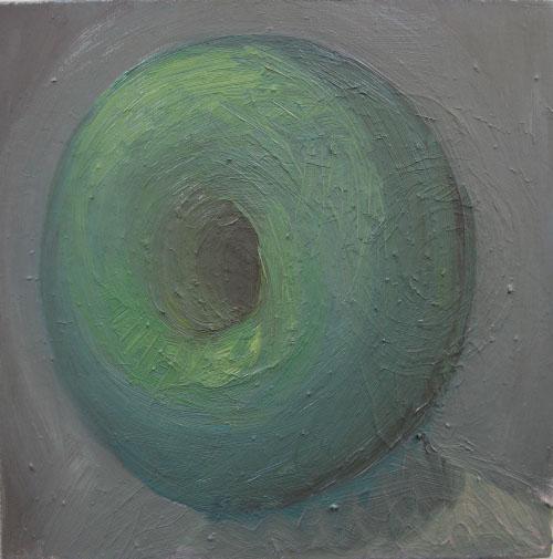 Self-portrait with donut#1, 2010, 50x50 cm.
