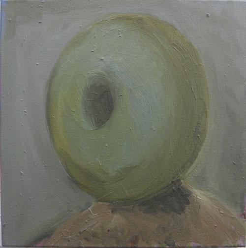 Self-portrait with donut#2, 2010, 50x50 cm.