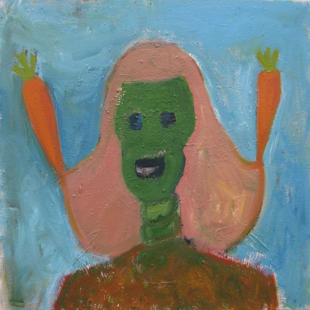 Zelfportret met 2 wortelen