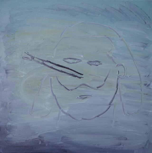 Zelfportret met kwast