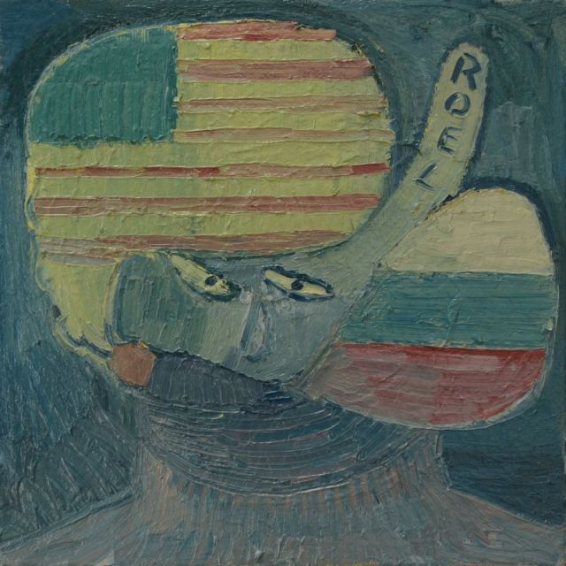 ZelfportretmetUSARussianFlag
