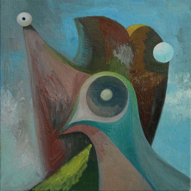 Zelfportret duif.